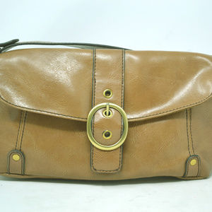 Relic Brown Faux Leather Shoulder Handbag